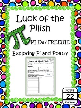 Pi and Poetry with Luck of the Pilish FREEBIE