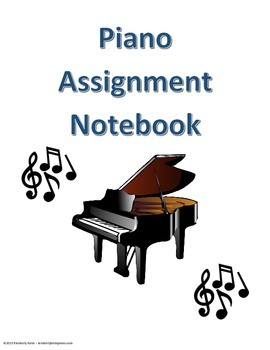Piano Binder Cover for the Older Student