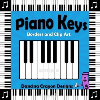 Music Borders - Piano Keyboard