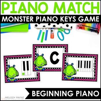 Piano Key Monsters {Music Alphabet Cards ABCDEFG, Color &