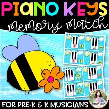 Piano Keys Memory Match Game for Young Beginners