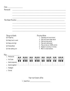 Piano Lesson Sheet