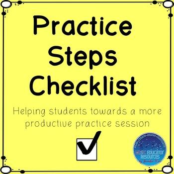 Piano Practice Steps Checklist