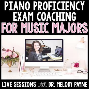 Piano Proficiency Coaching for Music Majors - Live via Skype