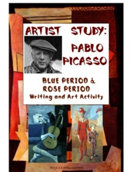 Picasso Writing, Art, and Social Studies Activity:  Blue P