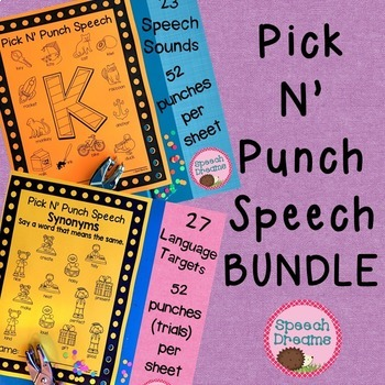 Pick N' Punch BUNDLE {low prep black & white print} punch cards