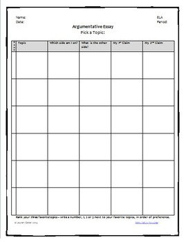 Pick a Nonfiction Topic Worksheet