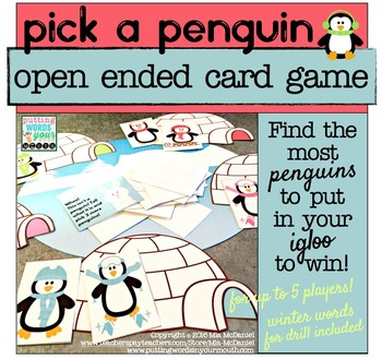Pick a Penguin {open ended card game}