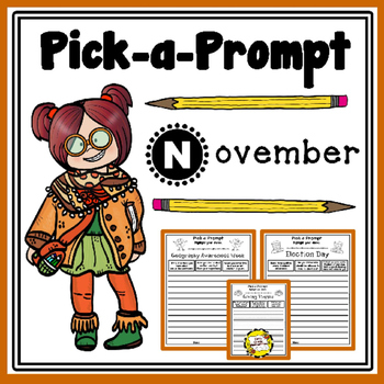 Pick-a-Prompt (November Writing Prompts)