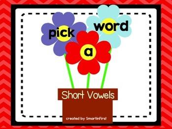 Pick a Word Short Vowel Center