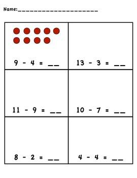 Pick-a-worksheet Subtraction Packet