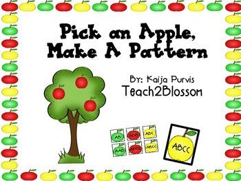 Pick an Apple, Make a Pattern!