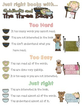 "Picking ""Just Right"" books using Goldilocks and the Three Bears!"