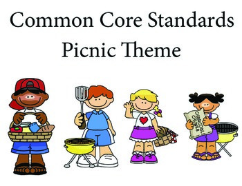Picnic 2nd grade English Common core standards posters