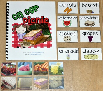 """Picnic Adapted Book--""""On Our Picnic"""" (w/Real Photos)"""