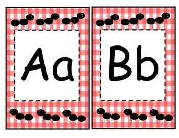 Picnic Alphabet Banner