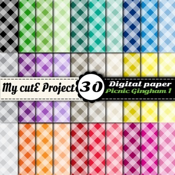 Picnic Gingham 1 - DIGITAL PAPER - Instant Download - Scra