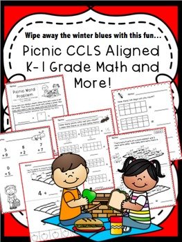 Picnic Math to Wipe Away The Winter Blues!!! CCSS kinderga