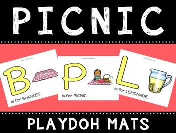Picnic Playdoh Mats
