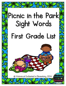 Picnic in the Park Sight Words! First Grade List Pack
