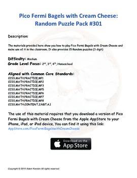 Pico Fermi Bagels with Cream Cheese: Random Puzzle Pack #301