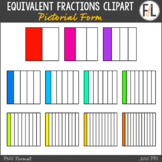 Equivalent Fractions Clipart in Pictorial Form