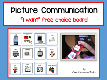 """Picture Communication """"I want"""" free choice - Autism/Specia"""