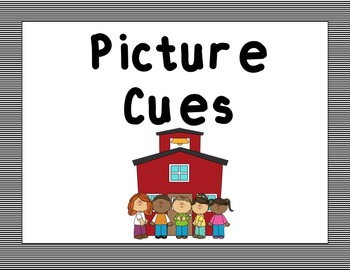 Picture Cues - Striped (Black and White)