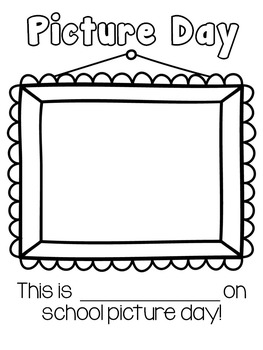 Picture Day Self-Portrait Coloring Page {Freebie}