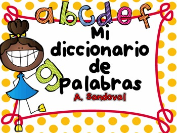 Picture Dictionary Booklet in Spanish Diccionario de palabras