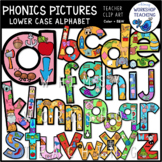 Phonics Filled Alphabet (lowercase) Clip Art - Whimsy Work