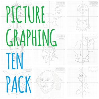 Picture Graphing (Ten Pack): Plotting Points on a Coordina
