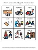 Picture Icons and Visual Supports – School Schedule (Set 1)