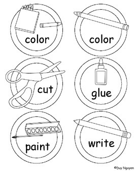 Pictured Instruction Labels