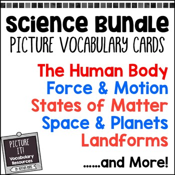Picture It! Science Vocabulary Cards for EC Classrooms {Gr