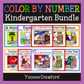 Color by Number Bundle Kindergarten - Color by Number, Add