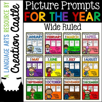 Picture Prompts Bundle - Wide Ruled