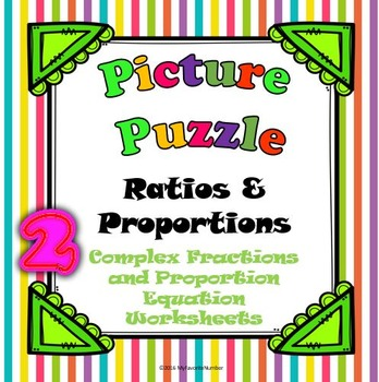 Picture Puzzle 2 Worksheets Complex Fractions The Proporti