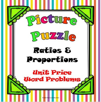 Picture Puzzle Unit Price Word Problems...Puzzles + Art +