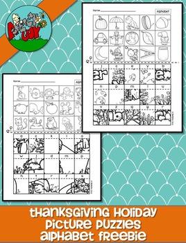 Picture Puzzles - Alphabet Letter Sound /Thanksgiving / No