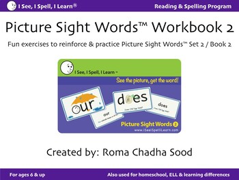 Picture Sight Words eWorkbook 2 - by I See, I Spell, I Learn®