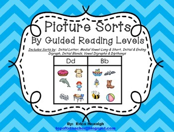 Picture Sorts for Word Study by Guided Reading Levels for