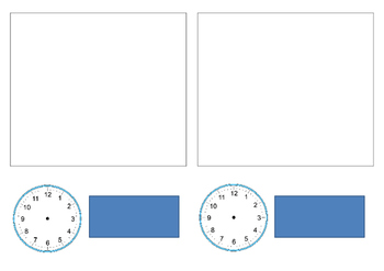 Picture Timetable with Digital and Analogue Clock