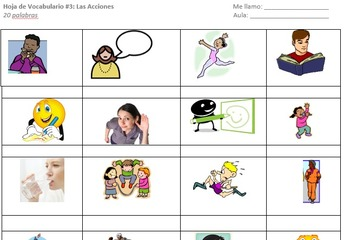 Picture Vocabulary Sheet Actions I