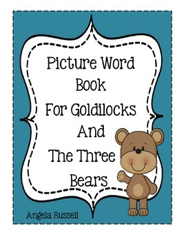 Picture Word Book For Goldilocks And The Three Bears