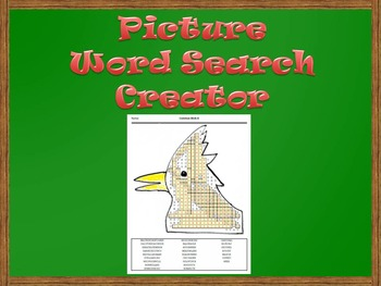 Picture Word Search Creator - Cardinal