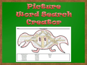 Picture Word Search Creator -- Crab