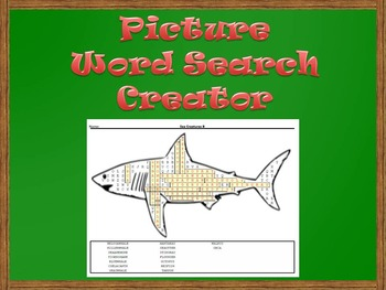 Picture Word Search Creator -- Shark