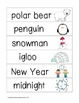 Picture Word Strips {January & Winter Words}
