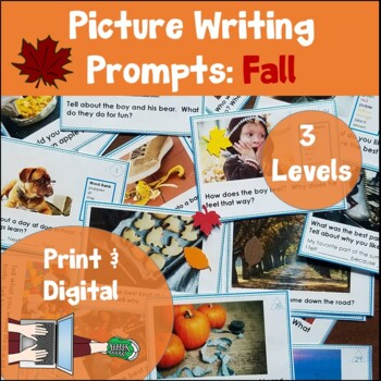 Picture Writing Prompt Task Cards: Back to School